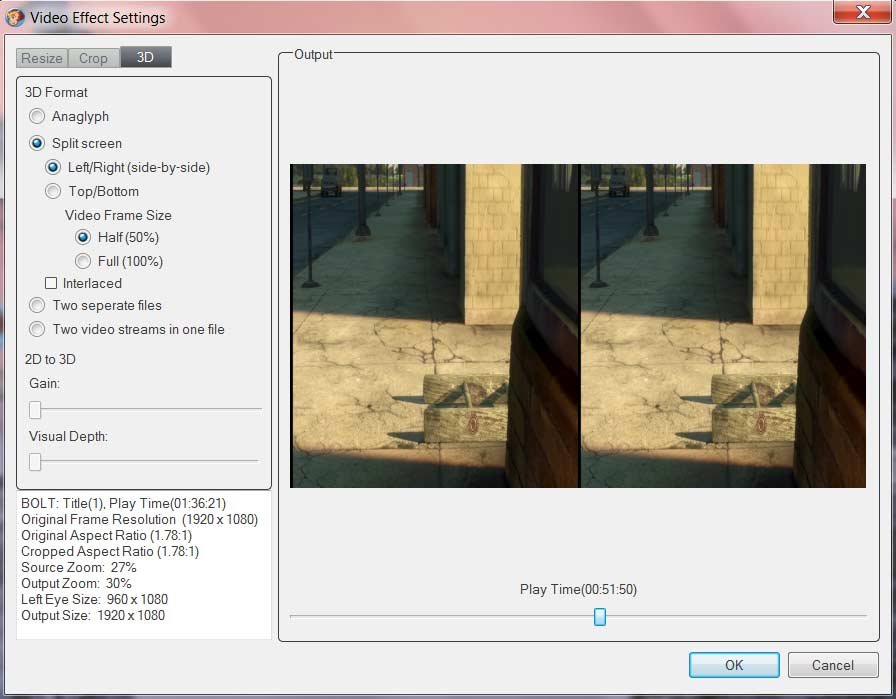 How To Convert 2D Video to Glasses Free 3D Video for HTC EVO