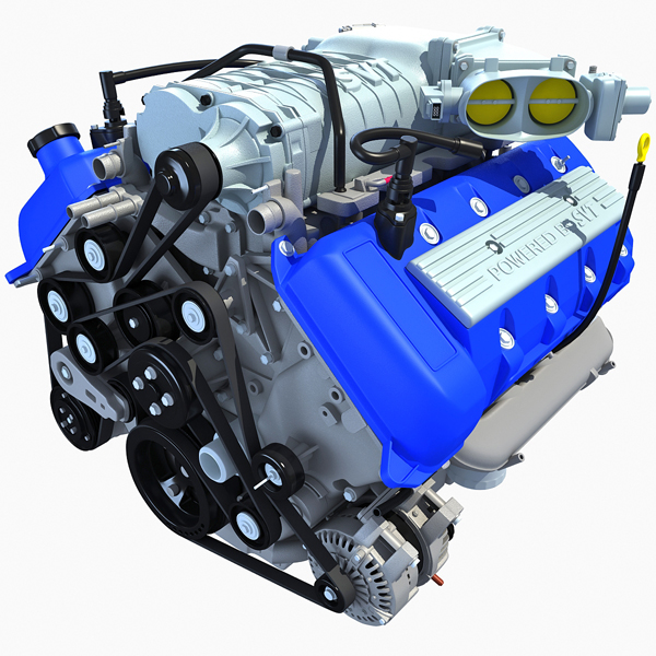 Model Car With Engine: Gandoza Makes 3D Models Of 2013 Car Engines