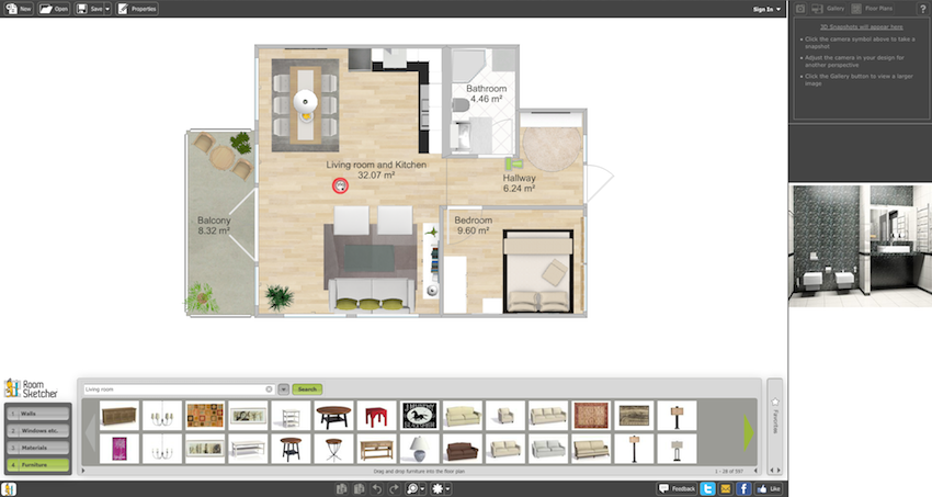 Design your dream home in 3d for free with roomsketcher for Design your dream house online free
