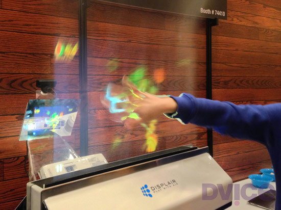 Displair A Multi Touch Holographic Fogscreen Display With