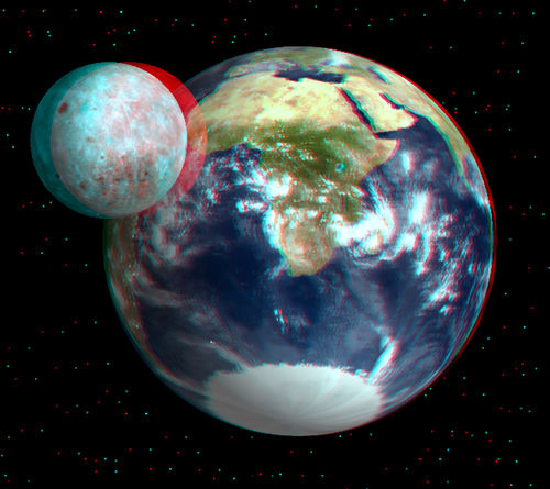 3D Picture Of The Day: Earth And Moon